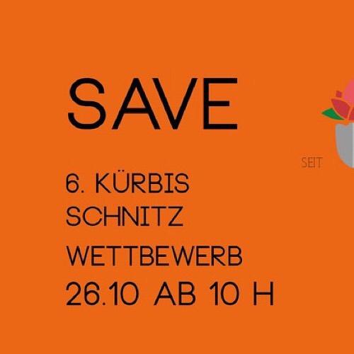 Save The Date.  #kürbisschnitzwm2019…